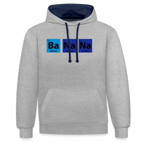 Periodic Table: BaNaNa - Contrast Colour Hoodie