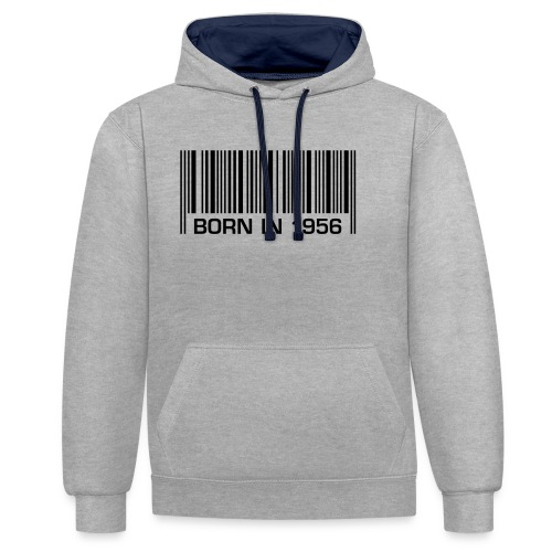 barcode born in 1956 60th birthday 60. Geburtstag - Contrast Colour Hoodie