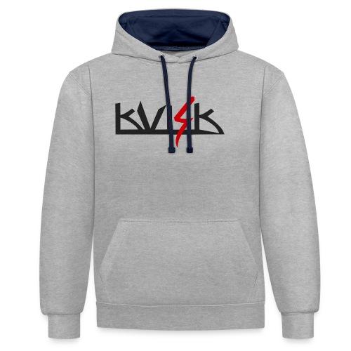 KVISK - mens shirt - Kontrast-Hoodie
