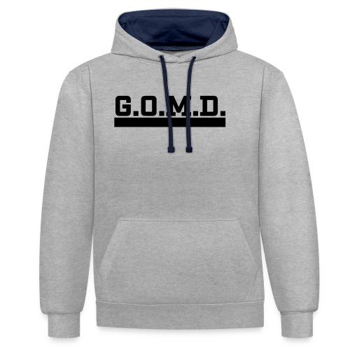 G.O.M.D. Shirt - Kontrast-Hoodie