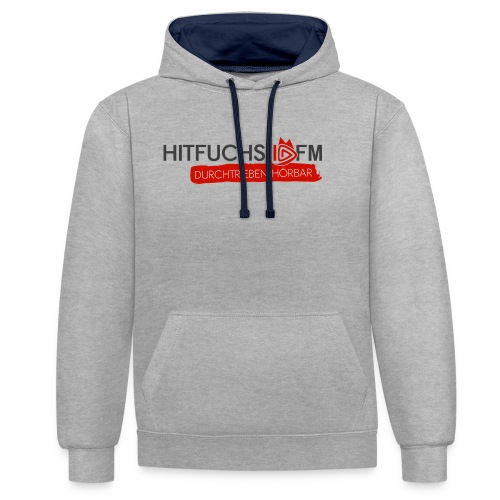 HitFuchs logo + slogan - Contrast Colour Hoodie