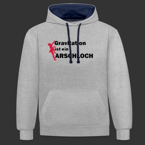 Gravitation Arschloch - Kontrast-Hoodie
