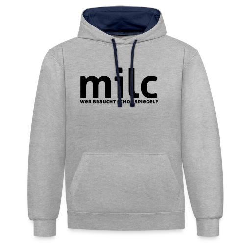 milc - Kontrast-Hoodie