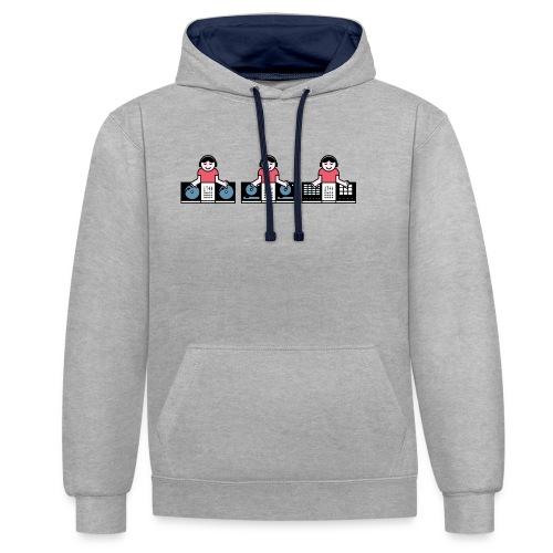 Musical Discovery - Contrast hoodie
