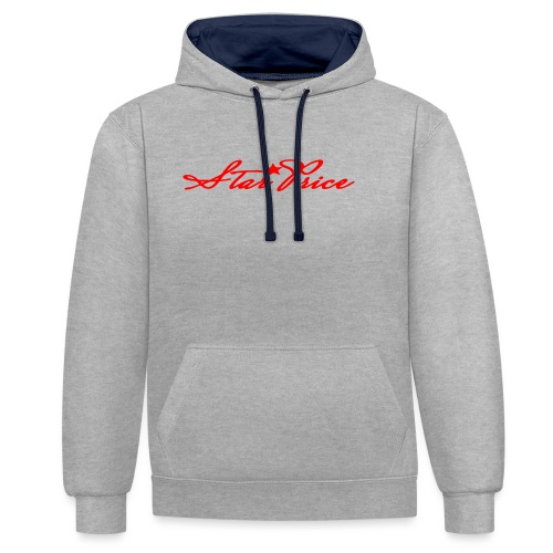 star price (red) - Contrast Colour Hoodie