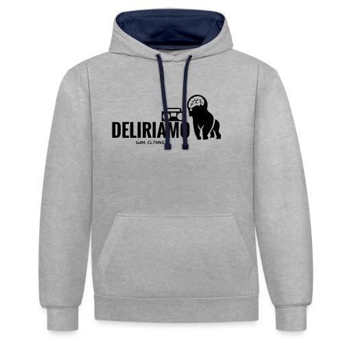 DELIRIAMO CLOTHING (GdM01) - Felpa con cappuccio bicromatica