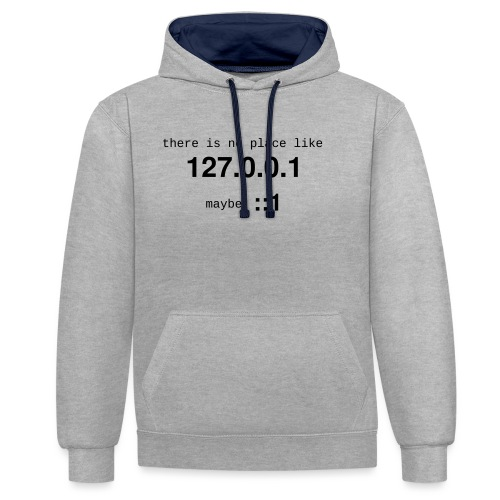 127-0-0-1-::1 - Sweat-shirt contraste