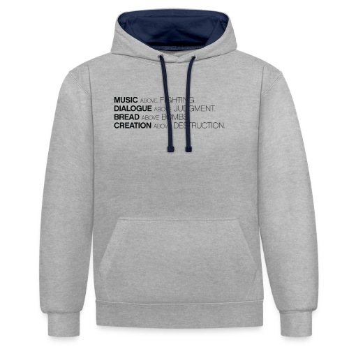 slogan png - Contrast hoodie