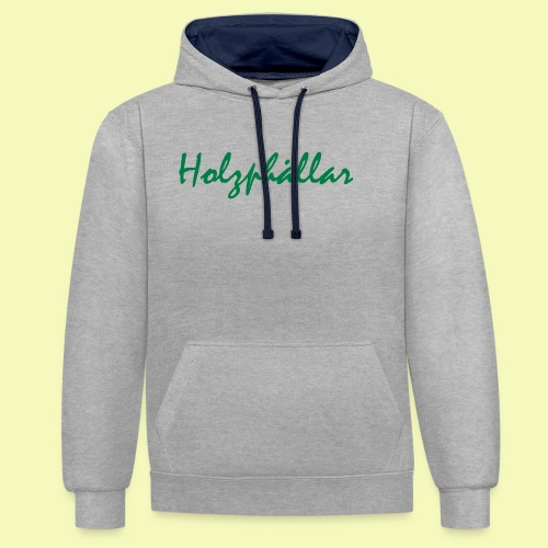 Schriftzug Grün - Kontrast-Hoodie