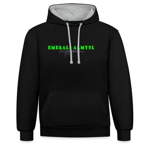 EMERALDARMYNL LETTERS! - Contrast hoodie