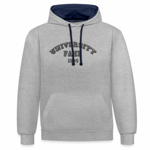 FAKE UNIVERSITY 1984 - Contrast Colour Hoodie