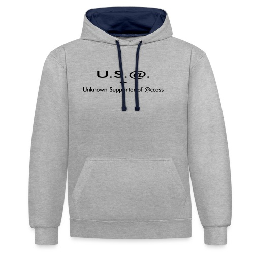 U.S.@. - Unknown Supporter of @ccess - Kontrast-Hoodie