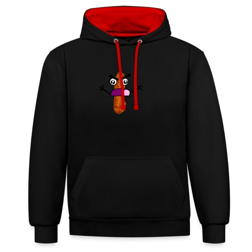 Bacon Man T-Shirt! - Contrast Colour Hoodie