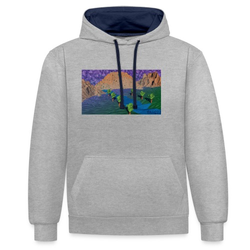 Silent river - Contrast Colour Hoodie