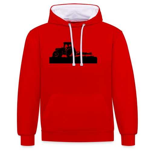 Tractor with cultivator - Contrast Colour Hoodie