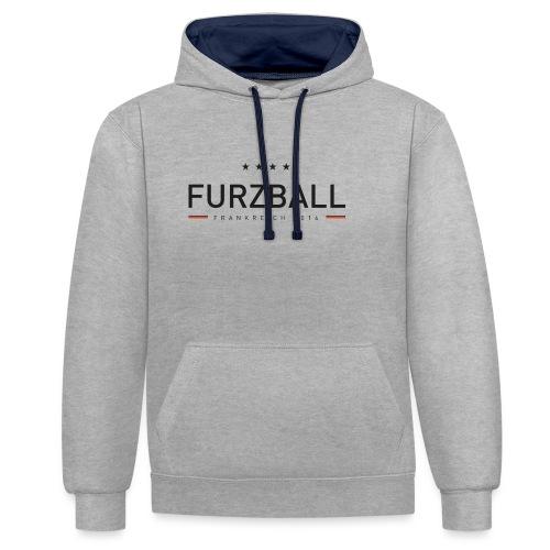 Furzball - Kontrast-Hoodie