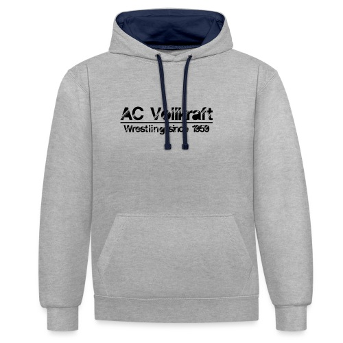 Ac Vollkraft - Wrestling since 1959 - Kontrast-Hoodie