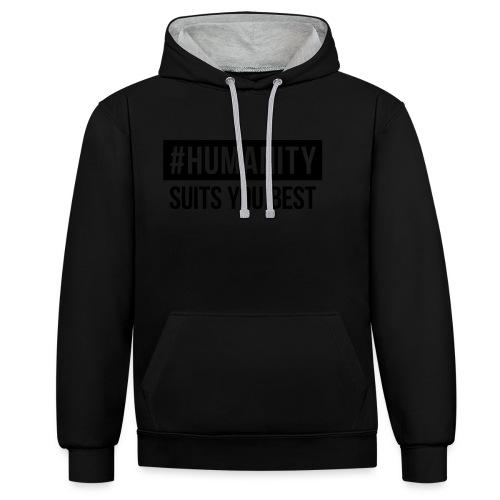 women's Premium T-Shirt #humanity - Kontrast-Hoodie