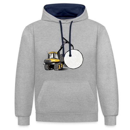 Kuormatraktori t paidat, hupparit, lahjatuotteet - Kontrastihuppari