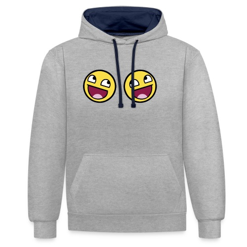 Boxers lolface 300 fixed gif - Contrast Colour Hoodie