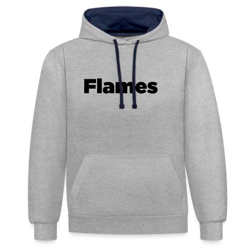 Plump Flames Logo - Contrast Colour Hoodie