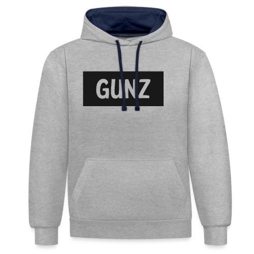 Gunz - Kontrast-hættetrøje
