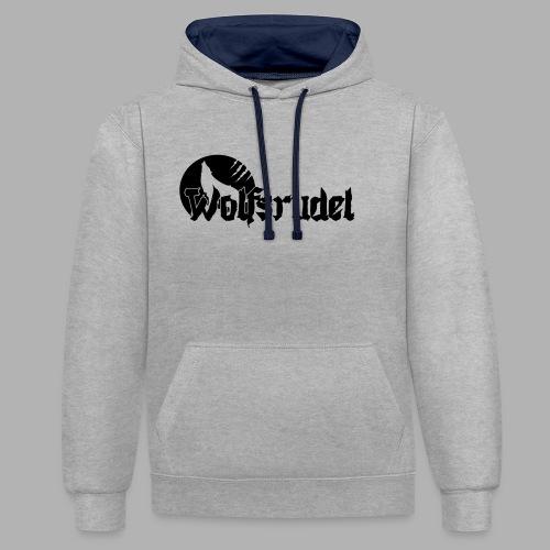 Logo Wolfsrudel EPS - Kontrast-Hoodie