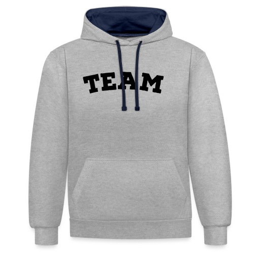 Team - Contrast Colour Hoodie