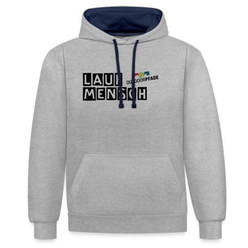 LaufMensch#01 - Kontrast-Hoodie