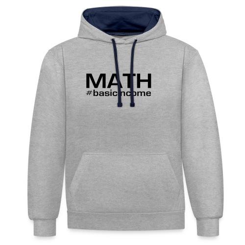 math-black - Contrast hoodie