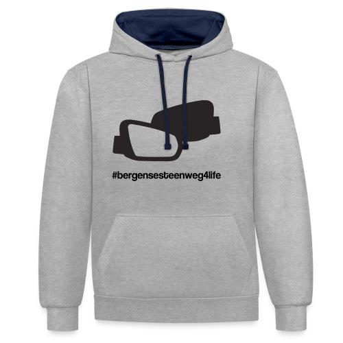 Bergensesteenweg4life - Contrast hoodie