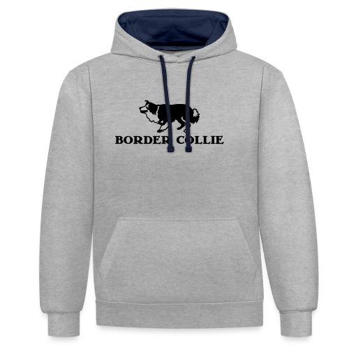 Border Collie 4 - Kontrast-Hoodie