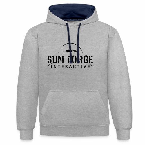 Sunforge Interactive - Sudadera con capucha en contraste