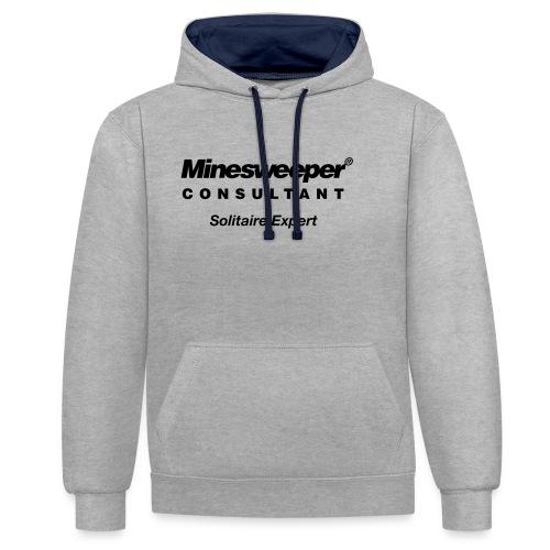minesweeper - Kontrast-Hoodie