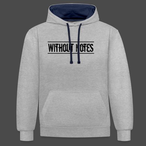 Without Notes Schriftzug Nummer 1 - Kontrast-Hoodie
