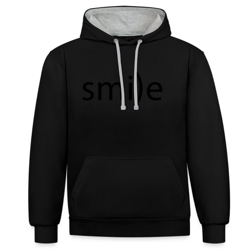 smile Emoticon lächeln lachen Optimist positiv yes - Contrast Colour Hoodie