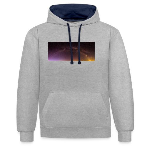 Milchstraße Panorama - Kontrast-Hoodie