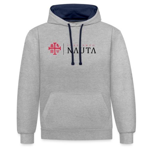 Logotipo Instituto NAUTA - Sudadera con capucha en contraste