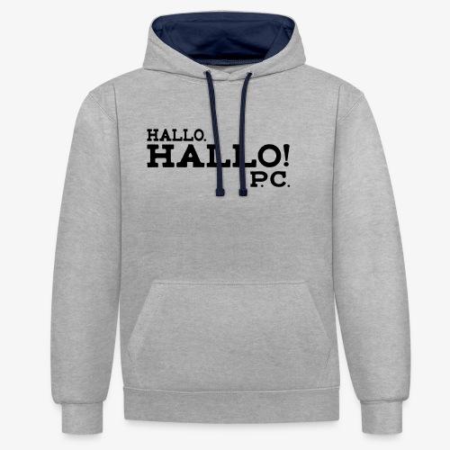 Hallo! P.C. - Kontrast-Hoodie