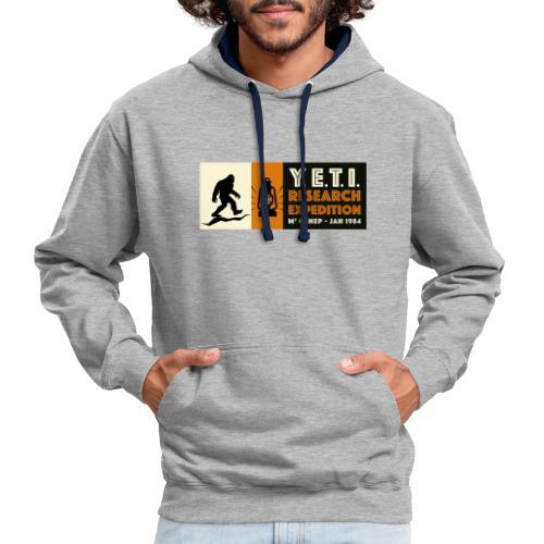 A la recherche du Yeti - Sweat-shirt contraste
