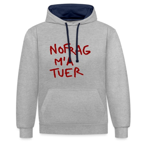 NF_ma_tuer - Sweat-shirt contraste