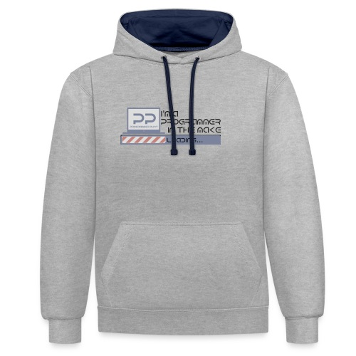 i m a programmer in the make - Contrast hoodie