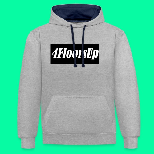 New Logo - Contrast Colour Hoodie