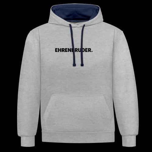 EHRENBRUDER-Black - Kontrast-Hoodie