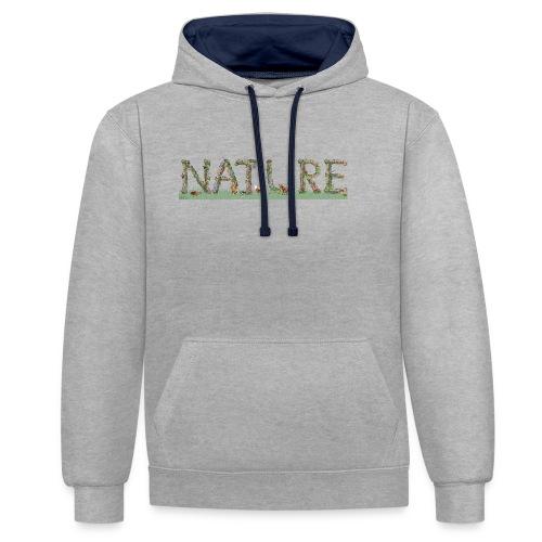 Natur - Kontrast-Hoodie