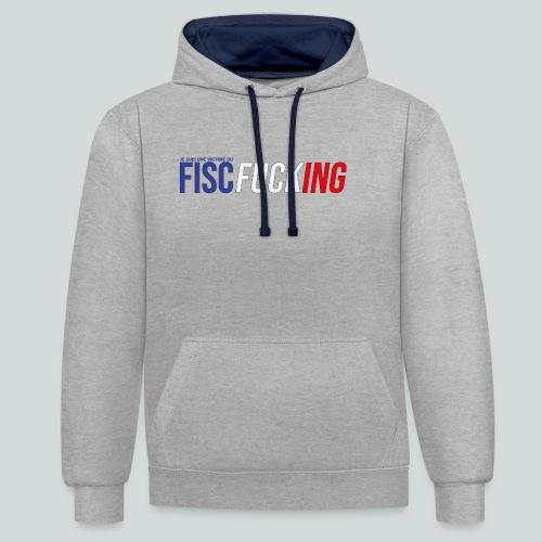 Je suis une victime du FISCfucking... - Sweat-shirt contraste