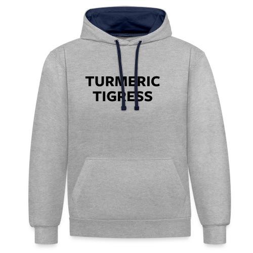 Turmeric Tigress - Contrast Colour Hoodie