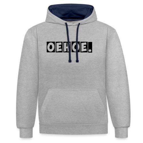 Oehoe_1_kleur - Contrast hoodie