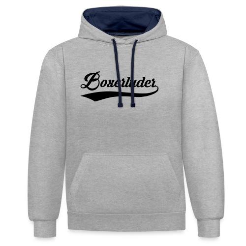 Motorrad Fahrer Shirt Boxerluder - Kontrast-Hoodie