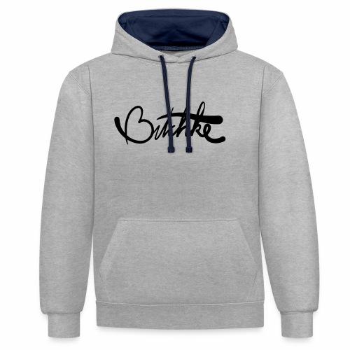 Bitchke - Contrast hoodie